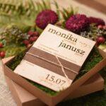 Bliżej natury drewniane zaproszenia ślubne