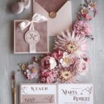 Zaproszenia ślubne z welurem